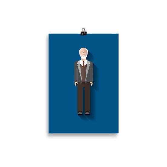 Poster Freud Minimum - Coleção Psicólogos