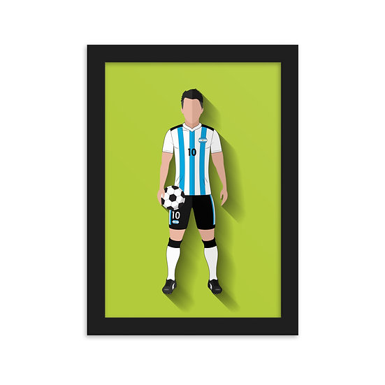 Fine Art Emoldurada Messi Minimum