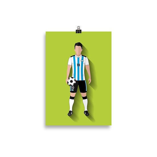 Poster Messi Minimum - Coleção Atletas