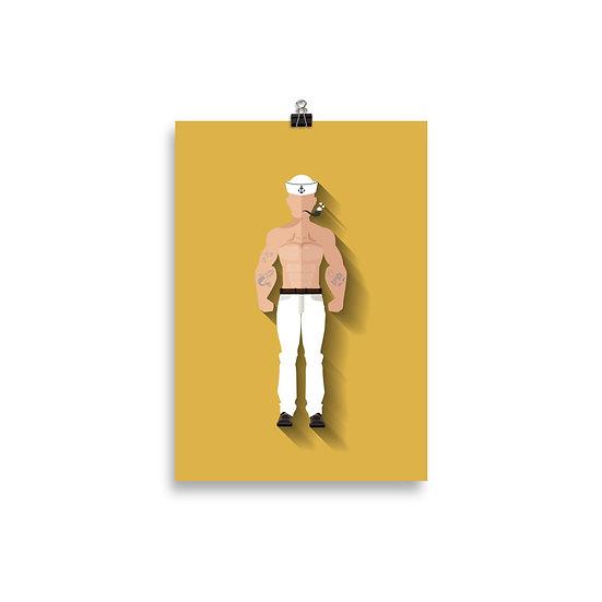 Poster Popeye Minimum - Coleção Clássicos do Cinema