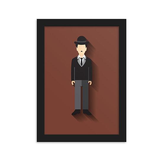 Fine Art Emoldurada Charlie Chaplin Minimum