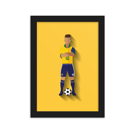 Fine Art Emoldurada Neymar Minimum