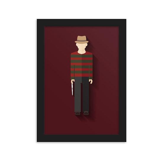 Fine Art Emoldurada Freddy krueger Minimum