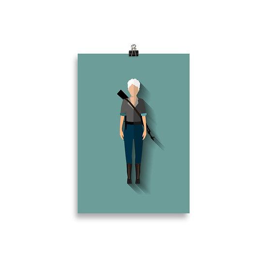 Poster Carol Minimum - Coleção The Walking Dead