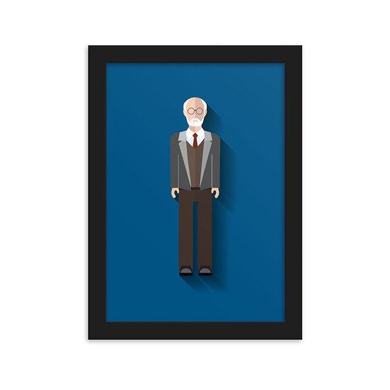 Fine Art Emoldurada Freud Minimum