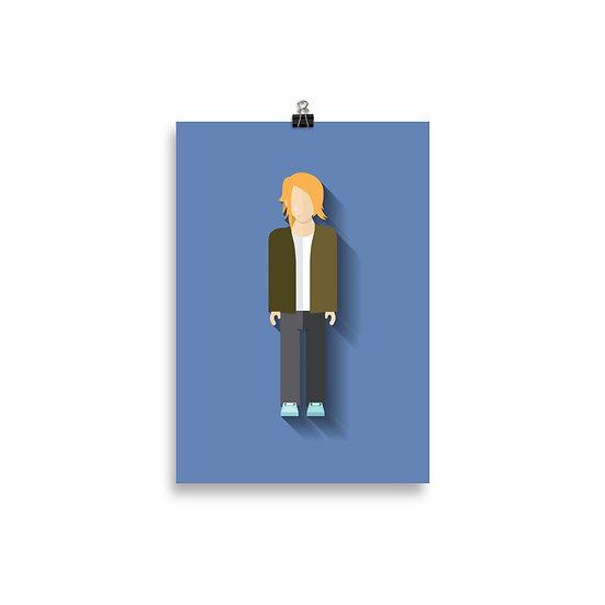 Poster Kurt Cobain Minimum - Coleção Músicos