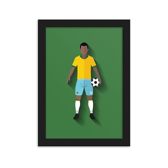 Fine Arte Emoldurada Pelé Minimum