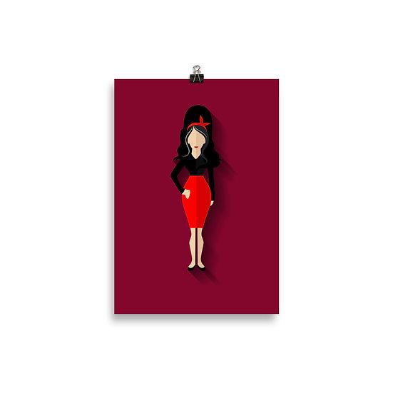 Poster Amy Winehouse Minimum - Coleção Músicos