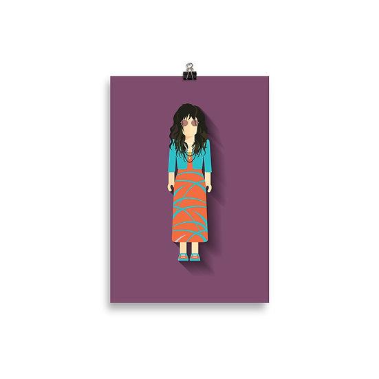 Poster Janis Joplin Minimum - Coleção Músicos