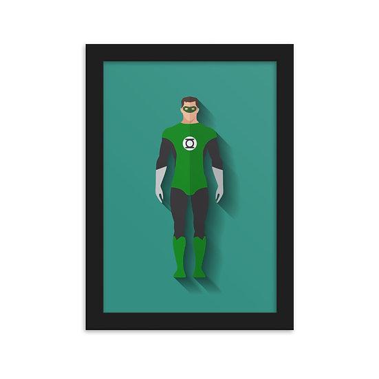 Fine Art Emoldurada Lanterna Verde Minimum