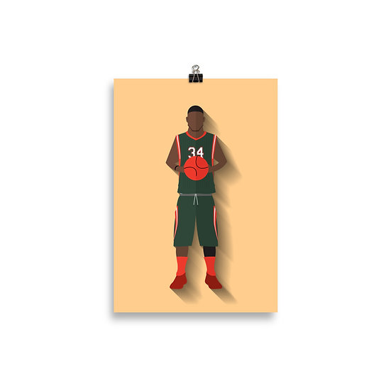 Poster Giannis Antetokounmpo Minimum - Coleção Atletas
