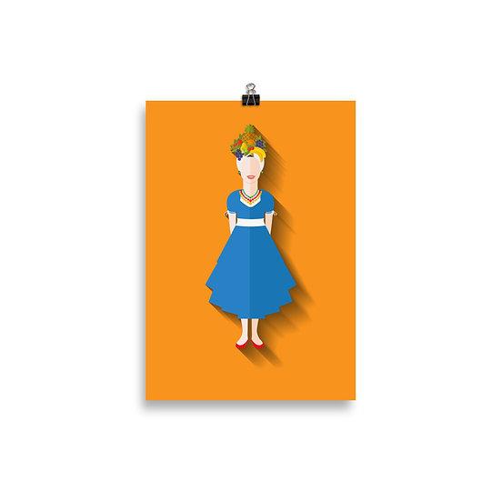 Poster Carmen Miranda Minimum - Coleção Clássicos do Cinema