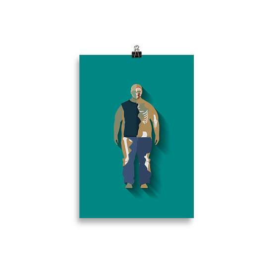Poster Zumbi Minimum - Coleção The Walking Dead