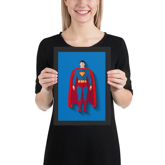 Fine Art Emoldurada Super Man Minimum