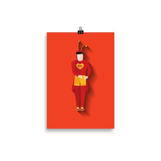Poster Chapolin Minimum - Coleção Turma do Chaves