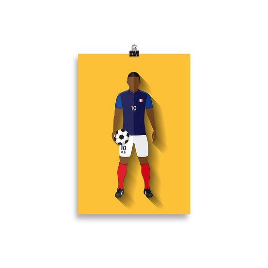 Poster Mbappe Minimum - Coleção Atletas