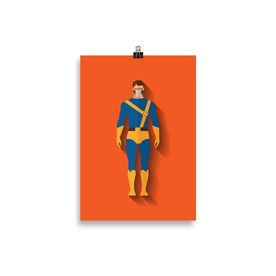 Poster Ciclop Minimum - Coleção Heróis