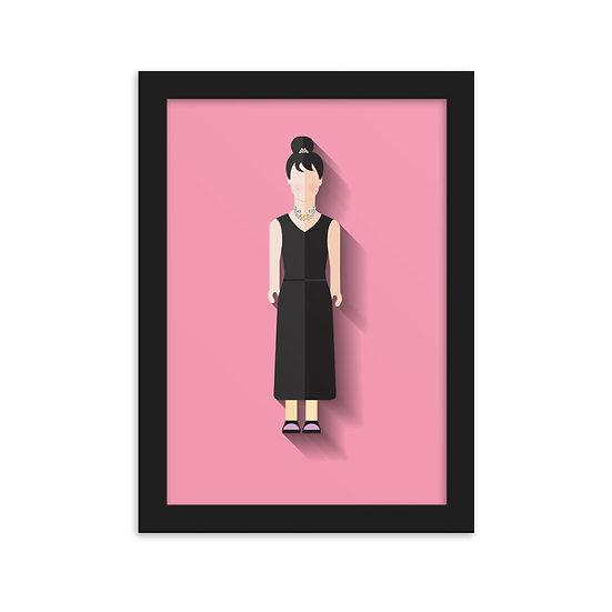 Fine Art Emoldurada Audrey Hepburn Minimum
