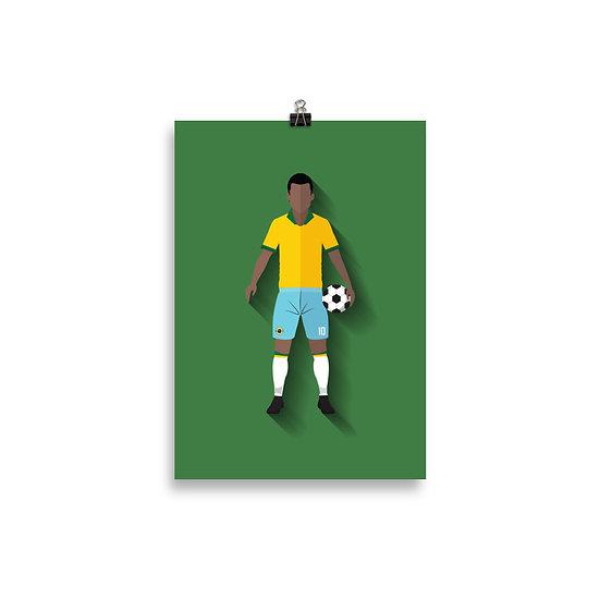 Poster Pelé Minimum - Coleção Atletas