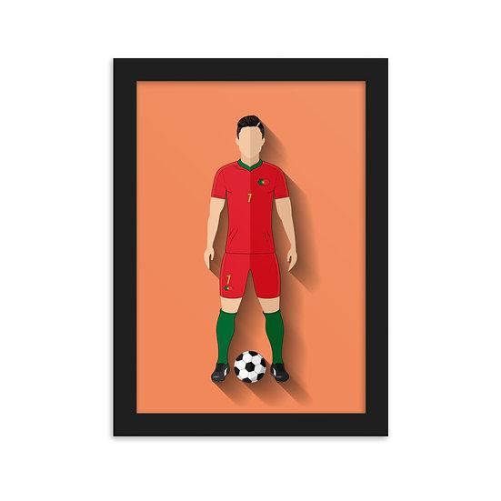 Fine Art Emoldurada Cristiano Ronaldo Minimum