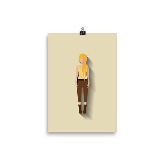 Poster Beth Minimum - Coleção The Walking Dead