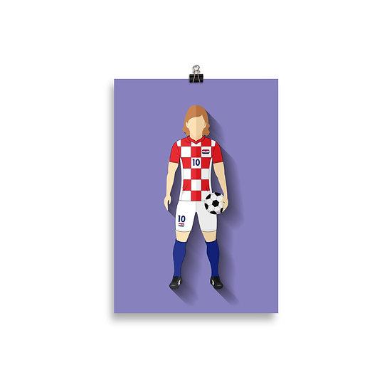 Poster Modric Minimum - Coleção Atletas