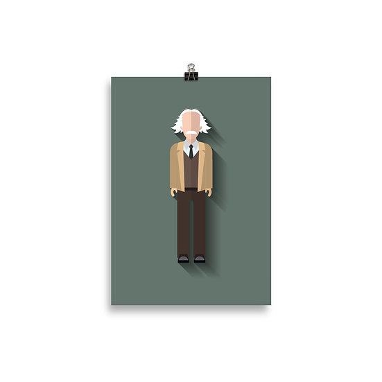 Poster Einstein Minimum - Coleção Gênios