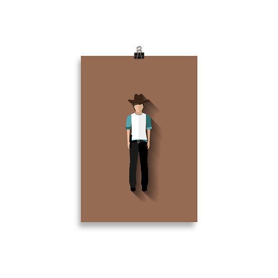 Poster Carl Minimum - Coleção The Walking Dead