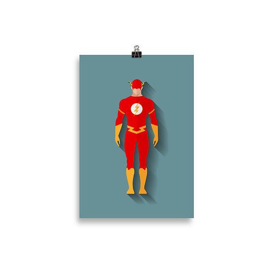 Poster Flash Minimum - Coleção Heróis