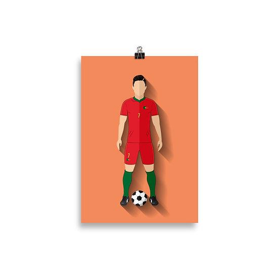 Poster Cristiano Ronaldo Minimum - Coleção Atletas
