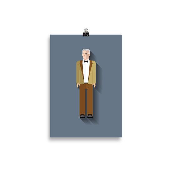 Poster Lacan Minimum - Coleção Psicólogos
