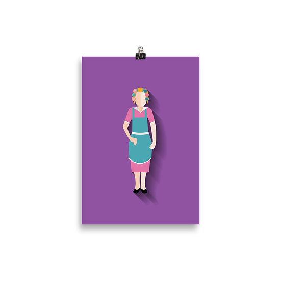Poster Dona Florinda Minimum - Coleção Turma do Chaves