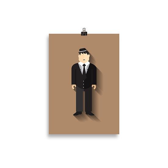 Poster O Gordo Minimum - Coleção Clássicos do Cinema