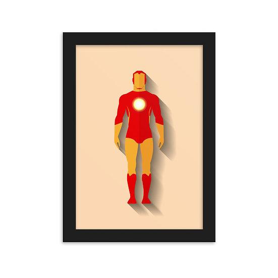 Fine Art Emoldurada Homem de Ferro Minimum