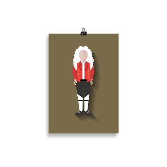 Poster Isaac Newton Minimum - Coleção Gênios
