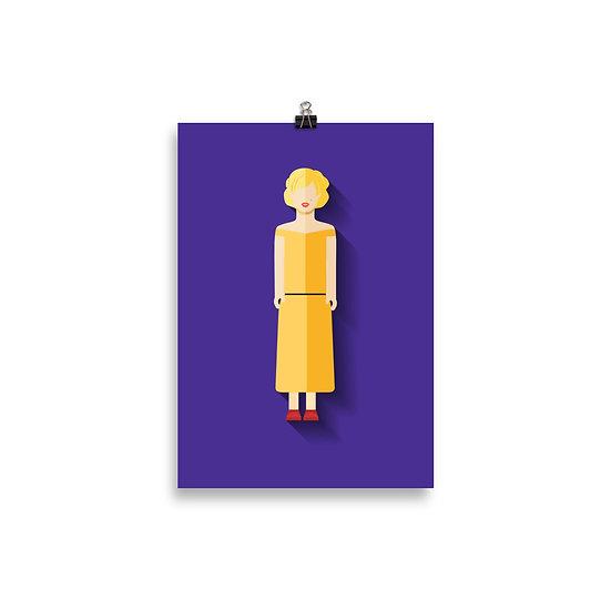 Poster Marilyn Monroe Minimum - Coleção Clássicos do Cinema