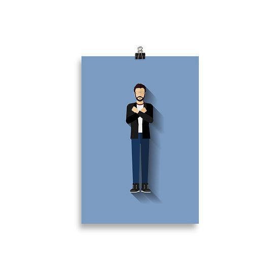 Poster Renato Russo Minimum - Coleção Músicos