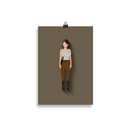 Poster Maggie Minimum - Coleção The Walking Dead