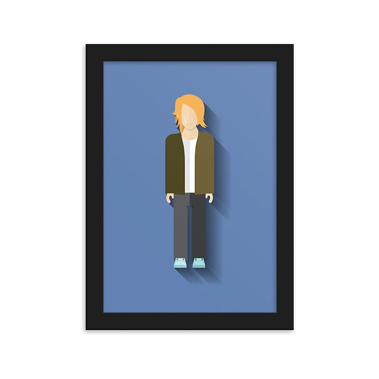 Fine Art Emoldurada Kurt Cobain Minimum
