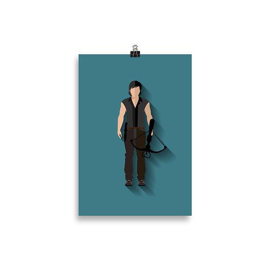 Poster Daryl Minimum - Coleção The Walking Dead