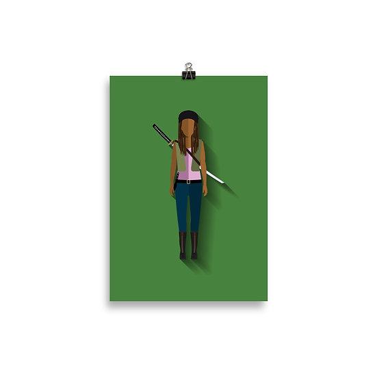 Poster Michonne Minimum - Coleção The Walking Dead
