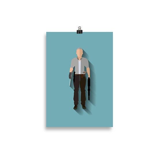 Poster Merle Minimum - Coleção The Walking Dead