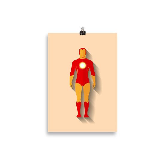 Poster Homem de Ferro Minimum - Coleção Heróis