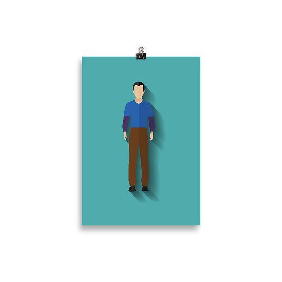 Poster Sheldon Minimum - Coleção Seriados