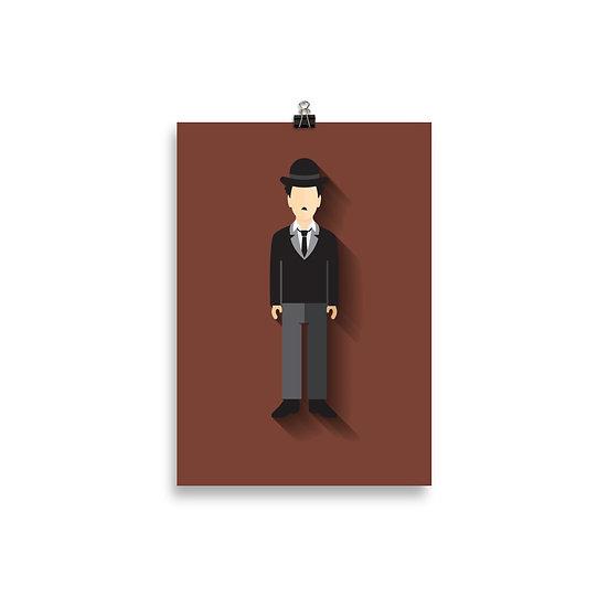 Poster Charlie Chaplin Minimum -  Coleção Clássicos do Cinema