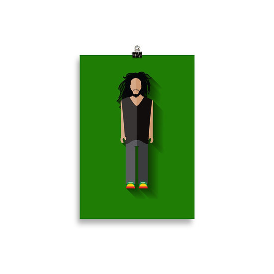 Poster Bob Marley Minimum - Coleção Músicos