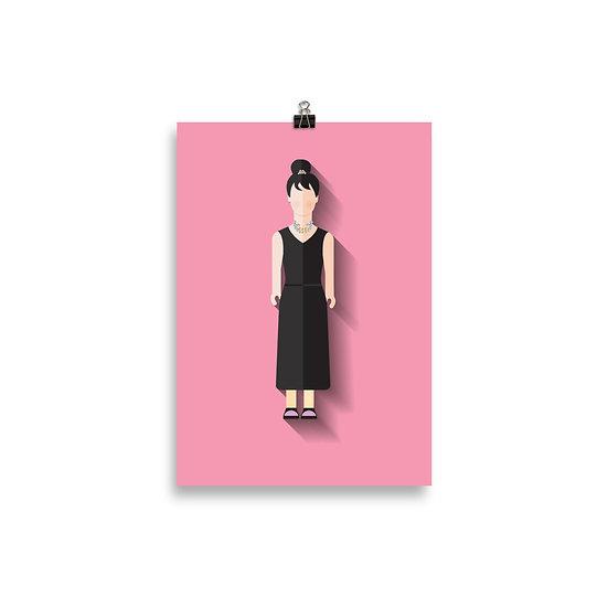 Poster Audrey Hepburn Minimum - Coleção Clássicos do Cinema