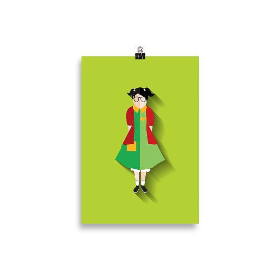 Poster Chiquinha Minimum - Coleção Turma do Chaves