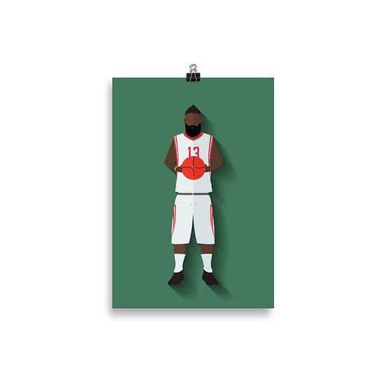 Poster James Harden Minimum - Coleção Atletas