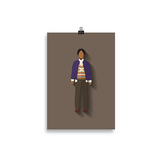 Poster Rajesh Minimum - Coleção Seriados